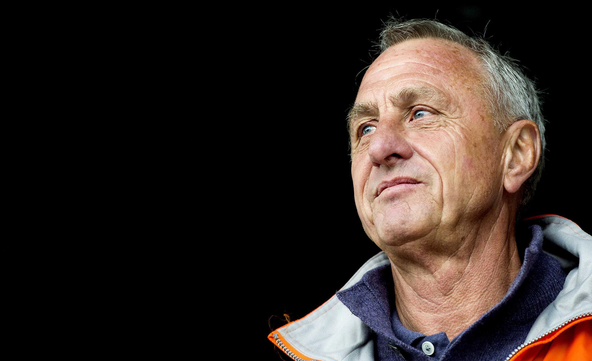 Johan Cruyff, ex fuoriclasse dell'Olanda e del Barcellona.