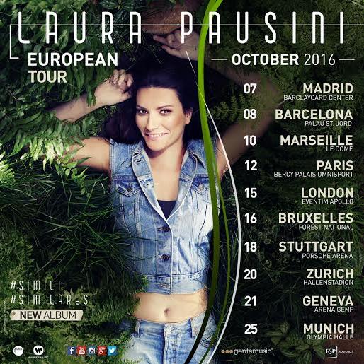 Laura Pausini concerto 4 e 11 giugno 2015 Milano Roma orari info biglietti