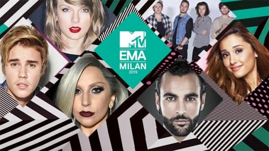MTV EMA i vincitori ok Mengoni e Justin Bieber Bocelli incanta Milano