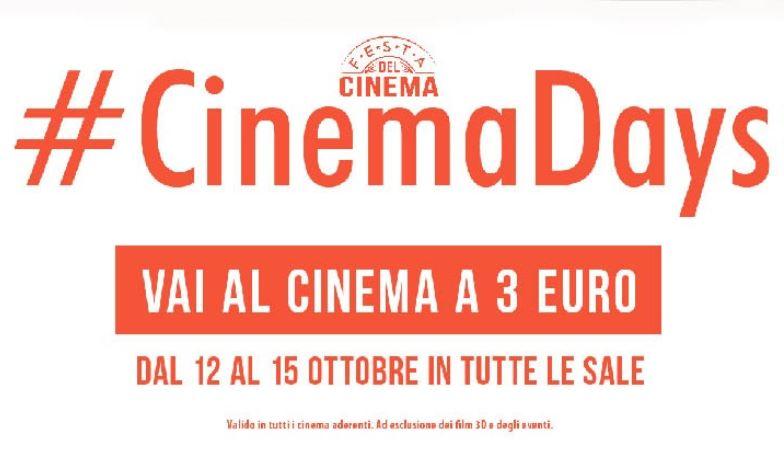 cinemadays cinema a 3 euro