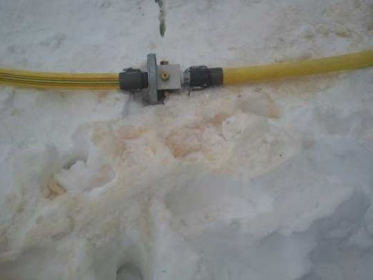 neve artificiale con acqua di fogna
