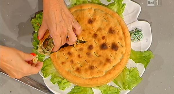 ricetta Anna Moroni la Prova del cuoco. Pizza di scarola
