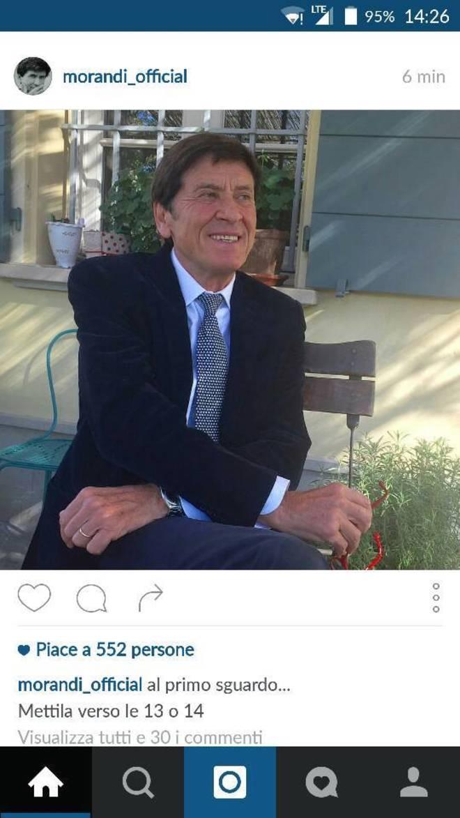 Gianni Morandi inchiodato da una foto