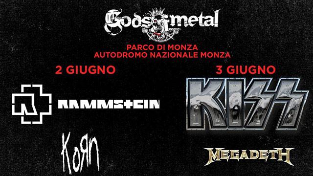 Gods of Metal 2016, Korn e Rammstein si esibiranno prima degli headliner. Info date, prezzi, pacchetti vip e biglietti.
