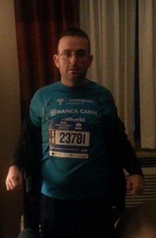Il maratoneta italiano Marengo
