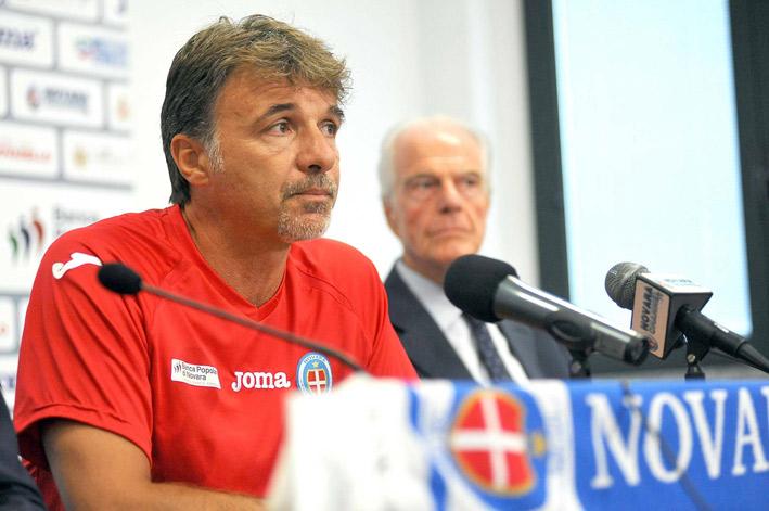 Marco Baroni, tecnico del Novara.