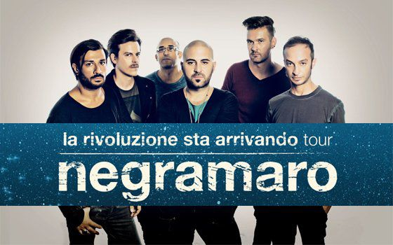 Negramaro di scena ad Ancona il 15 novembre 2015.