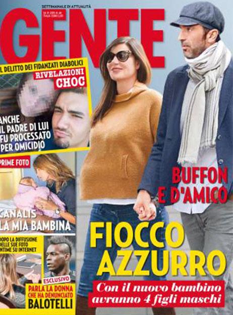Buffon-D'Amico, il quarto figlio della coppia sarà un maschio. Lo rivela il settimanale Gente.