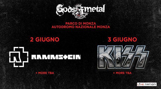 Kiss e Rammstein headliner al Gods of Metal 2016