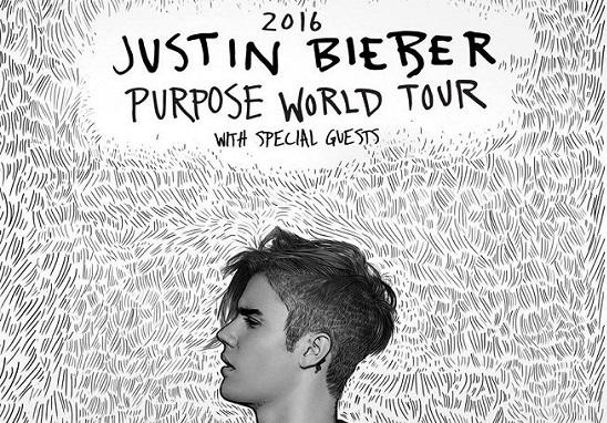 Justin Bieber a Bologna il 19 e 20 novembre 2016. Info tour