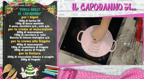 La Prova del cuoco puntata 30 dicembre, ricetta di Capodanno di Anna Moroni: paris brest