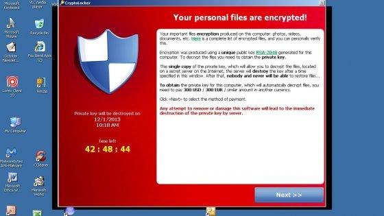 Il virus informatico Cryptolocker imperversa. La Polizia postale gli da la caccia