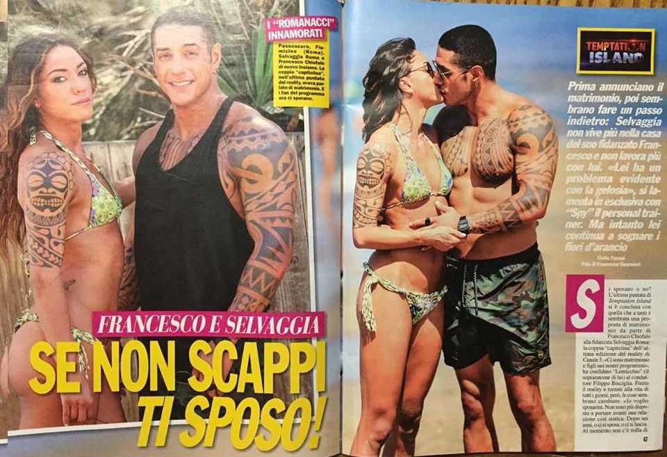 Temptation Island 2017: Francesco Chiofalo e Selvaggia Roma sono tornati insieme